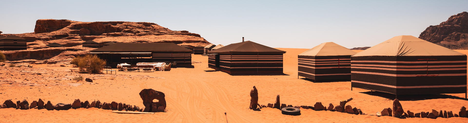 Traditional Bedouin campsite petra