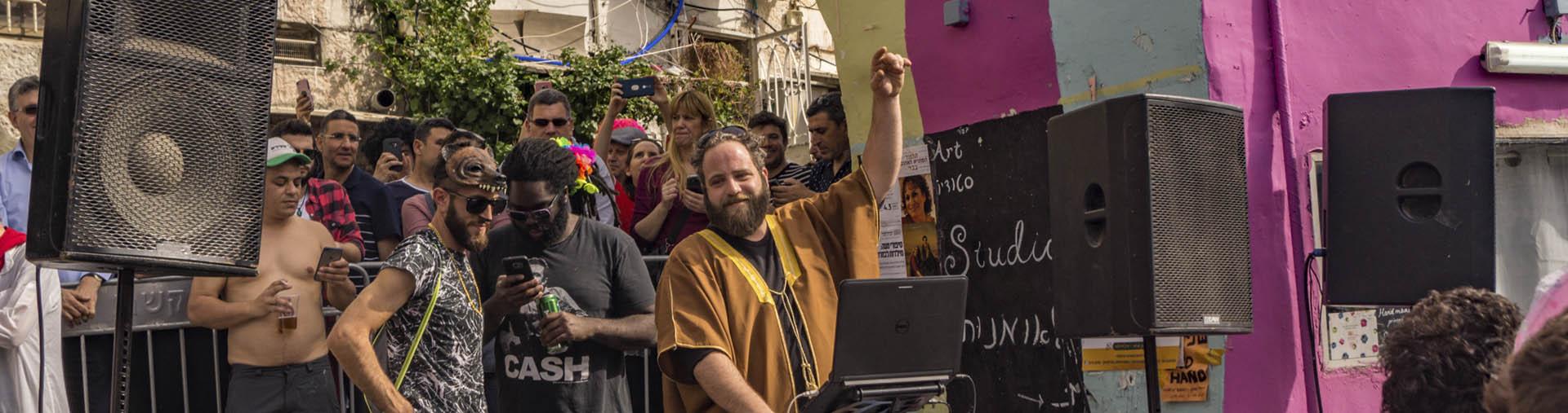 Purim street party