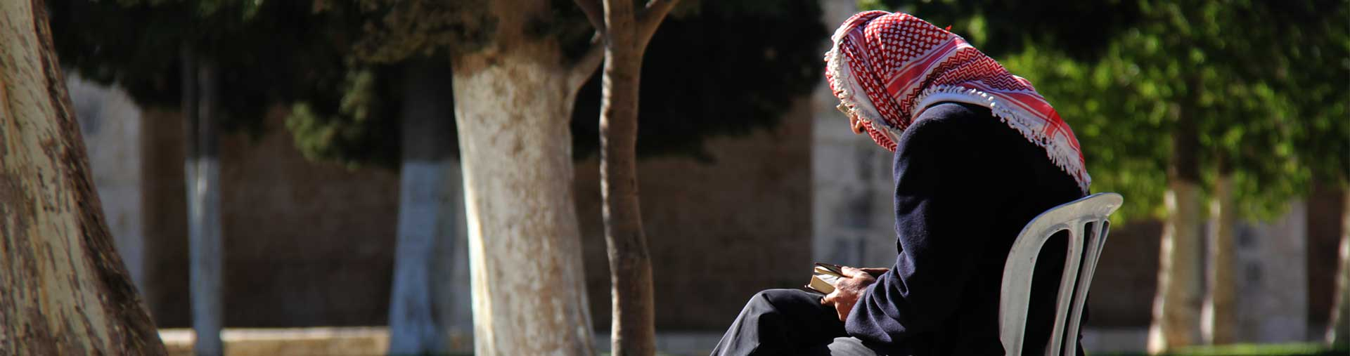 Arab man in the muslim quarter jerusalem