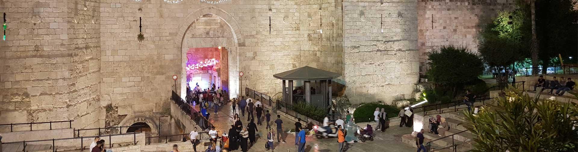 Muslim quarter at night