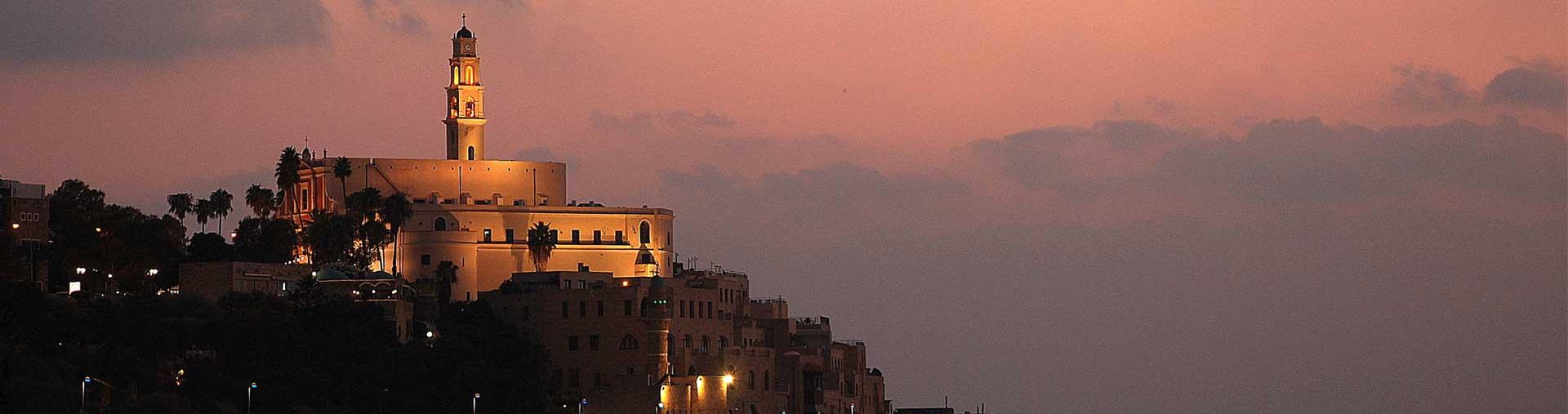 Jaffa Israel at night